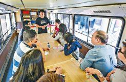 太古坊糖廠街-熱狗巴士上學歎咖啡